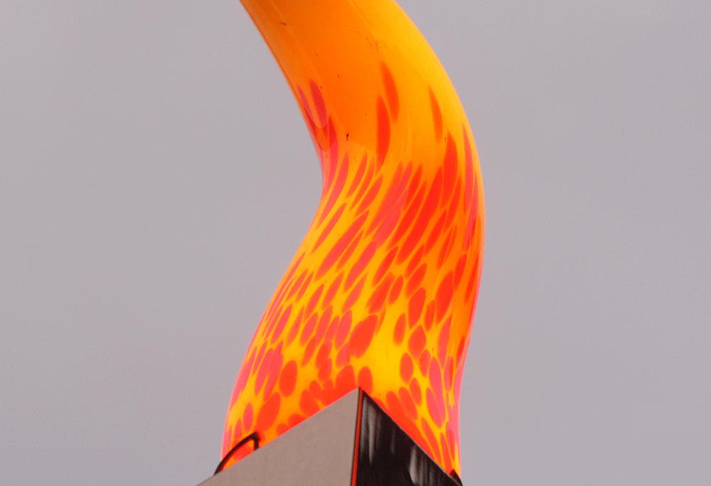 Einzelanfertigung nach Wunsch! - Flamme aus Glas
