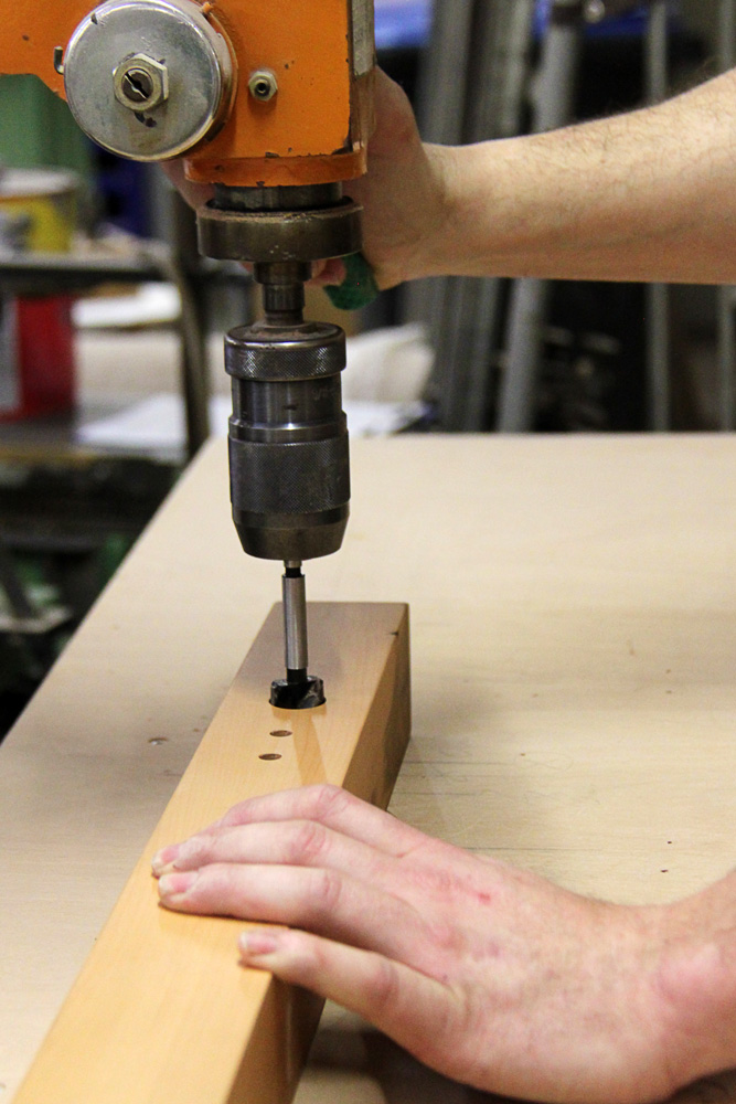 das Handwerk - Herstellung Holzleuchte